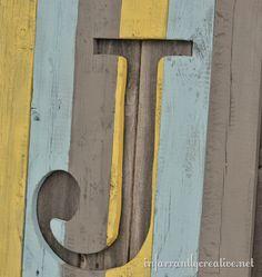 weathered wood monogram ... I love it