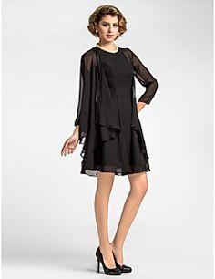 Women's Wrap Coats/Jackets 3/4-Length Sleeve Chiffon Black Wedding / Party/Evening Wide collar Ruffles Open Front – GBP £ 29.52