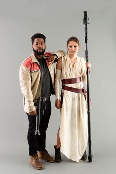 Go to a Galaxy Far, Far Away With This Star Wars Finn   Rey Couples Costume via Brit   Co