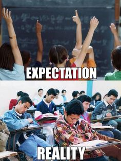 A day in the life of a real college student: Expectations vs. reality