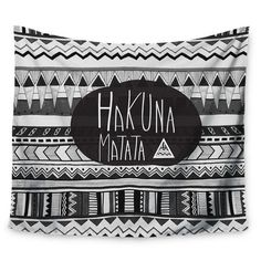 """East Urban Home Hakuna Matata by Vasare Nar Wall Tapestry Size: 60"""" H x 80"""" W"""
