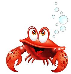 View album on Yandex. Cartoon Sea Animals, Cute Animals, Crab Art, Image Digital, Pics Art, Cute Clipart, Illustration, Cute Images, Colouring Pages
