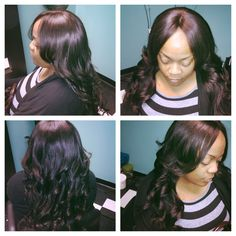 8th install of hair 3 bundle sew in with lacefront closure. Www.styleseat.com/luxelengths