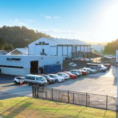 The Allproof manufacturing facility looking sharp early this morning shortly after sunrise. We've spent the last few years expanding and refining our production facility now occupying 5 building with specialised equipment and processes producing premium NZ made products to the construction market. .  #nzmade #madeinnewzealand #madeinnz #buylocal #proudtobeaplumber #drainage #plumbingnz #constructionnz #architecture #architecturenz #architectureauckland #factory #buildingdesign #nz… Buy Local, Auckland, Building Design, Plumbing, New Zealand, Sunrise, Construction, Architecture, Outdoor Decor