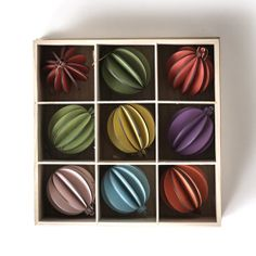 DwellStudio Carnaby Groove Ornaments - Set of 9 - SOLD OUT | DwellStudio