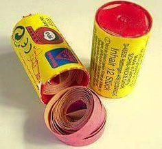Roll caps for a cap gun. If no cap gun, then, a hammer and a sidewalk! My Childhood Memories, Childhood Toys, Great Memories, School Memories, Childhood Friends, Retro Toys, Vintage Toys, Vintage Stuff, Vintage Sweets