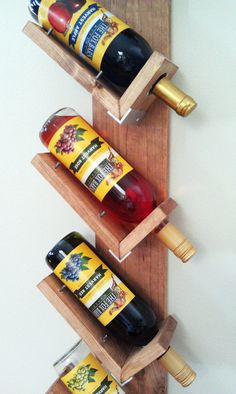 Wood Wall Hanging Wine Rack
