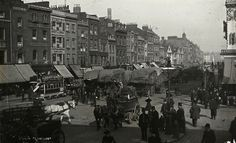 Whitechapel Hay Market, looking east towards Whitechapel, c 1920