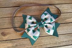 Christmas baby headband  Christmas hair bow  baby's