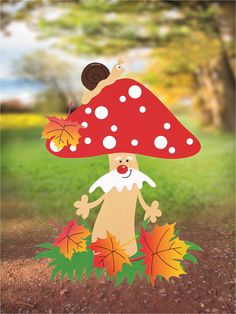 autumn craft ideen Foam Crafts, Preschool Crafts, Diy And Crafts, Arts And Crafts, Paper Crafts, Class Decoration, School Decorations, Fall Crafts For Kids, Art For Kids