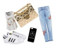"""""""Untitled #5"""" by vikusik43 ❤ liked on Polyvore featuring Citizens of Humanity, Chanel, adidas and Casetify"""
