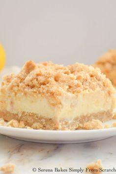 Lemon Cheesecake Crumb Bars serenabakessimplyfromscratch.com