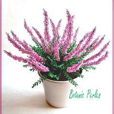 French beaded Heather. Fleurs de bruyère rose par Botanic Perles sur AlittleMarket.com