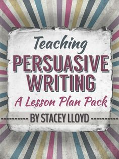 Writing doesn't come easily to many students; so to effectively teach writing we often need to GUIDE learners through the process.