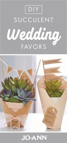 What a fun idea! These DIY Succulent Wedding Favors are thoughtful, creative, and fun—which makes these charming gifts a wonderful addition to your reception.