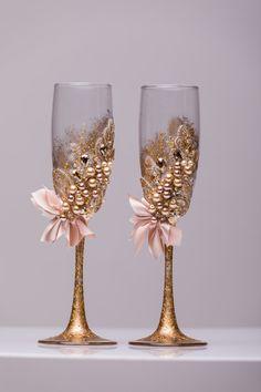 Boda personalizada flautas copas boda por WeddingBohemianChic