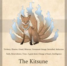 Kitsune - cuya función clásica es la de proteger bosques y aldeas sabiduría infinita, esencialmente omnisciente,
