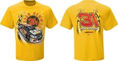 2015 RYAN NEWMAN #31 CATERPILLAR GOLD SPEEDBOLT NASCAR TEE SHIRT #RichardChildressRacing