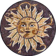 Pool Marble Mosaic Medallion