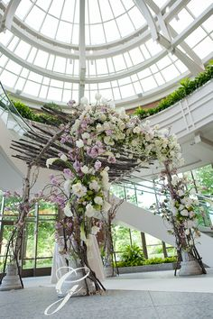 Gorgeous chuppah from Grazier Photography.  I just realized this is at the Wintergarden at Seaport - I'm looking at this venue!