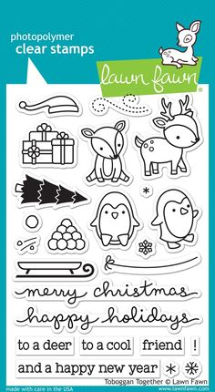 the Lawn Fawn blog: Fall & Winter 2015 Sneak Week - Day 4 Toboggan together stamp
