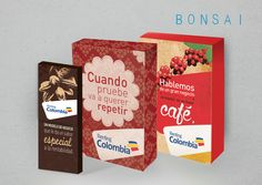 Empaques para correo directo, marca Renting Colombia. www.bonsaicrea.com