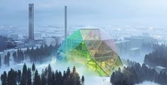un moderno impianto di cogenerazione a biomasse, capace di produrre energia elettrica e contemporaneamente calore dalla combustione di materie organiche solide o liquide quali materiale legnoso o olio di palma.