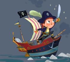Transient - Mike Yamada. Amazing little boy pirate fantasy