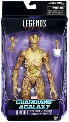 Marvel Guardians of the Galaxy Vol. 2 Marvel Legends Groot Evolution Exclusive 9 Action Figure Hasbro Toys - ToyWiz