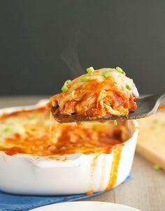 (Primal) Chicken Enchilada Casserole - Enchilada sauce was easy to make and very good.