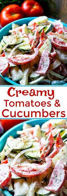 Creamy Tomato and Cucumber Salad