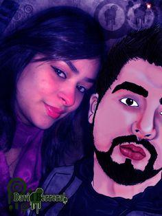 Edição de imagem com ilustração. Eu e minha namorada !