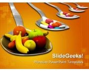 Fruits Vs Medicine Health PowerPoint Templates And PowerPoint Backgrounds 0211 Presentation Slides, Medicine, Templates, Fruit, Health, Backgrounds, Food, Google, Stencils
