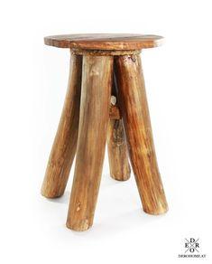 "Hocker ""Mahagoni"" Praktischer & dekorativer Hocker ""Mahagoni"" aus Holz im trendigen Vintage Look. Stool, Vintage, Furniture, Home Decor, Seating Areas, Stools, Home Decor Accessories, Homemade Home Decor, Home Furnishings"