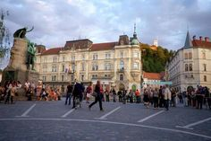 Preseren Square in the capital, Ljubljana, is busy day and night with performers, tourists, students. Slovenia, Alpine Style, Yosemite Valley, The Beautiful Country, Backpacking Europe, Small Places, Swiss Alps, Montenegro, Croatia