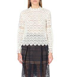SELF-PORTRAIT Crochet lace top