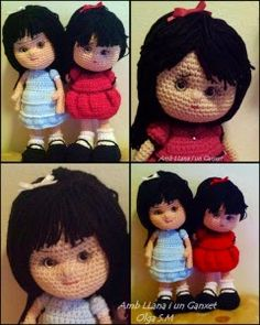 2000 Free Amigurumi Patterns: Patrón Muñequitas: free doll crochet pattern