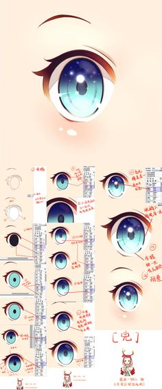 眼睛教程...来自蓝莓雪椰的图片分享-堆糖