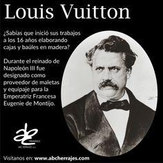 #FelizFinDeSemana. Los dejamos con datos curiosos del Famoso Diseñador  Francés Louis Vuitton. #ABCherrajes #Diseñadores #LouisVuitton #Bolsos #Estilo