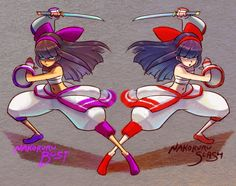 Nakoruru Bust vs Slash I always liked Bust Nakoruru's costume more than Rera's even though it's just a palette swap of regular Nakoruru. If only Rera kept the long hair and didn't wear a silly little hat. Also, Nakoruru's little pets are the best.