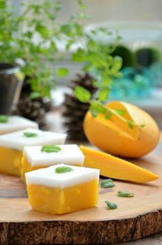 Mango & Coconut Milk 'Jelly' This 5-ingredient, vegan-friendly Mango and Coconut milk 'jelly' is the perfect summer dessert. Simple to make, rich, exotic & decadent.