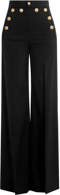 RED Valentino Wide Leg Sailor-Style Pants