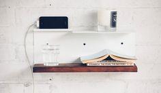 The Side Shelf. old barn wood.