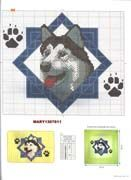 Husky.. this site has other dog patterns