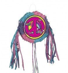 Pinata Hippie avec Ficelles qui conviendra aux adolescents zen,cool, peace and love