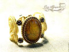 """Купить Браслет """"Золото Инков"""" - золотой, браслет из камней, Браслет ручной работы, подарок"""