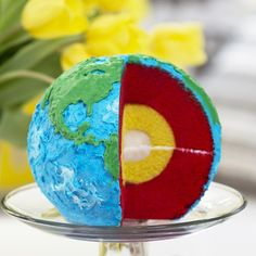 """""""New video! Made a layered Earth Cake in celebration of Earth Day! """""""