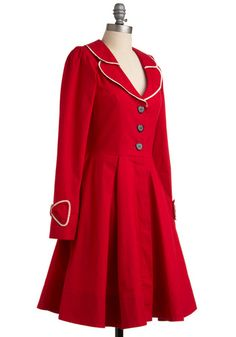 Love! It has a Polka Dot lining and a little bow in the back-red can be as cute as pink