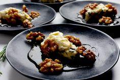 Torta Gorgonzola With Walnuts in Honey