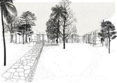 Drawing an Evocative Non Finito Oblò Archit… Architecture Visualization, Presentation Design, Monochrome, Sketches, Layout, Snow, Graphic Design, Black And White, Drawings